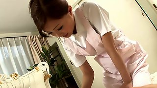 Sexy Nurse jerks her patient\'s cock as a treatment