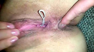 Fingering her Asshole & she fucks herself with Vibrator