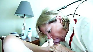Marty swallows load of thick cum